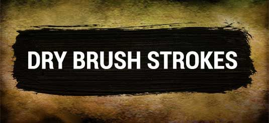 Dry brush strokes for Photoshop